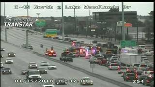 North Freeway northbound mainlanes reopen in The Woodlands after 2-vehicle crash