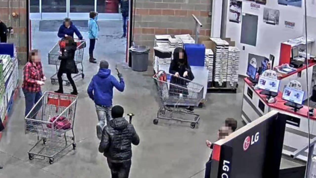 Costco smash and grab surveillance