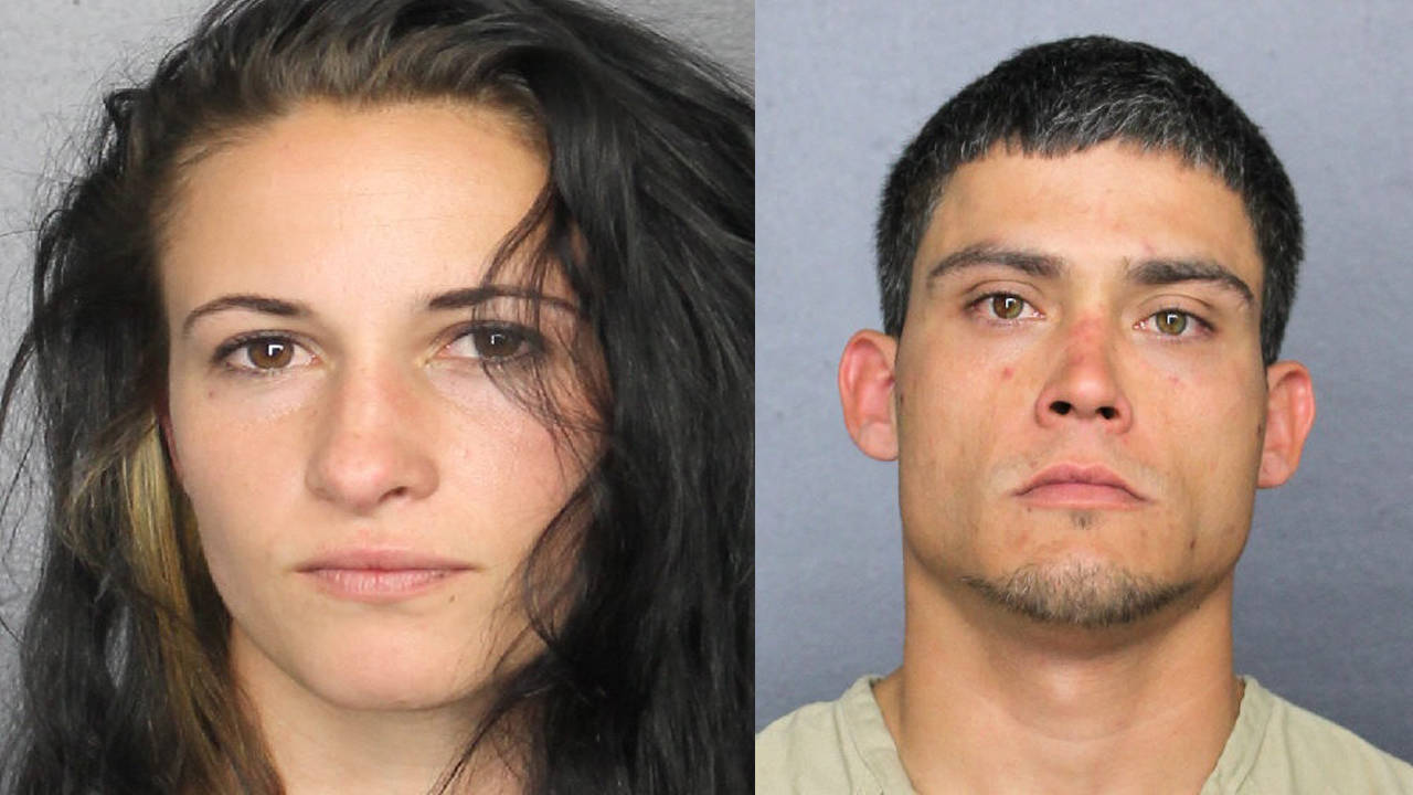 Carly Morgan and Ryan Ouimet mugshots