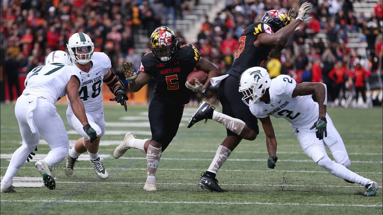 Anthony McFarland Maryland football vs Michigan State 2019