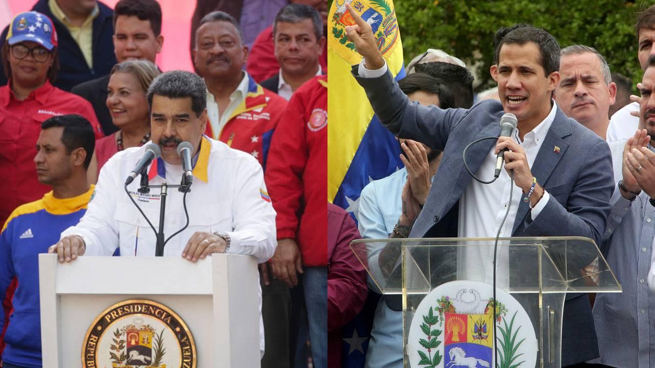 Guaido and Maduro