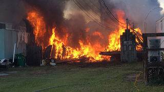 Multiple mobile homes on fire in West Cocoa