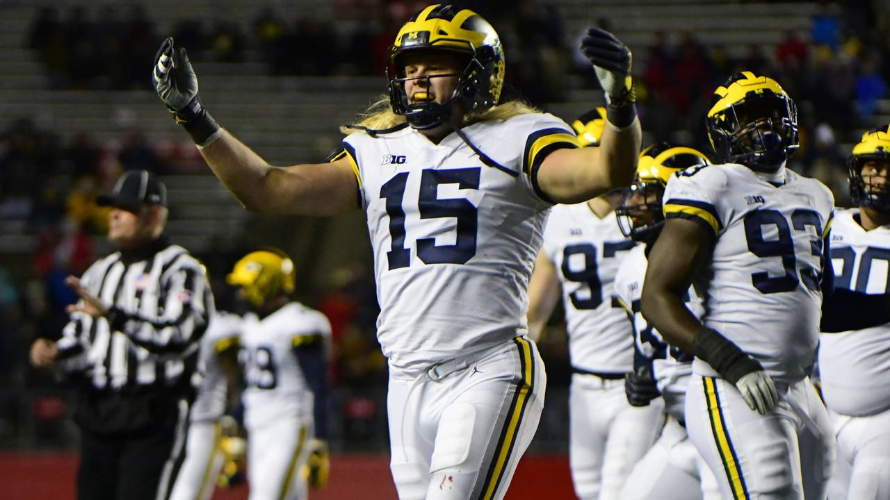 Chase Winovich Michigan football vs Rutgers 2018