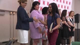 Students in Women of Tomorrow program receive college scholarships