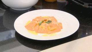 Cookin' Time with H-E-B: Filled pasta with butternut squash sauce and&hellip&#x3b;