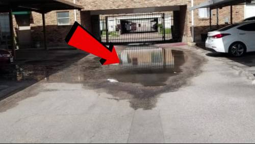 Residents fed up with sewage in parking lots