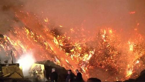 Fire crews battling a mulch fire in northwest Harris County