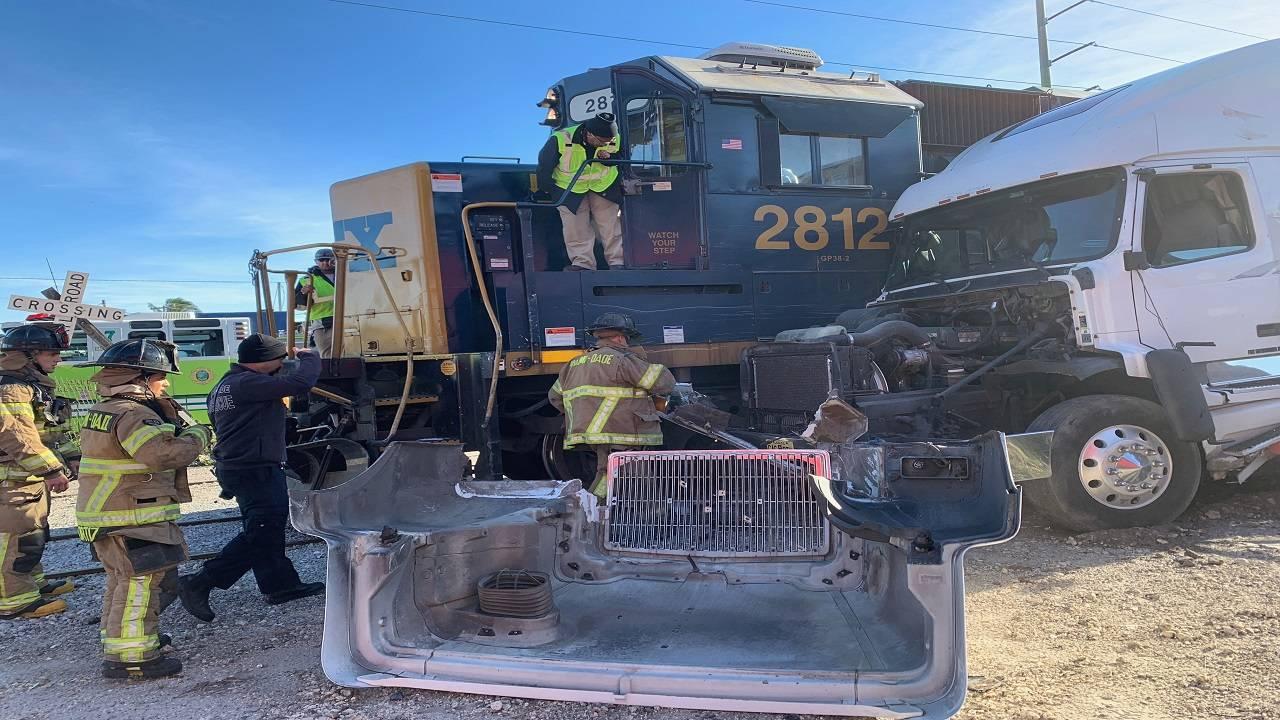 Truck vs train 2