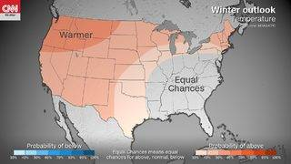 A mild winter could be in store for many Americans, NOAA says