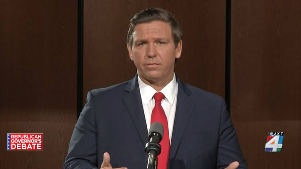 Ron DeSantis at Jacksonville debate