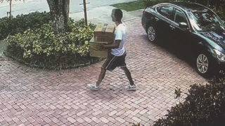 Man caught on camera stealing several packages from Miami home