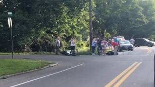 Motorcycle driver in critical condition after crash near Roanoke's Fishburn Park