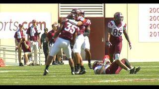 Hokies defensive line garners attention at Spring Game