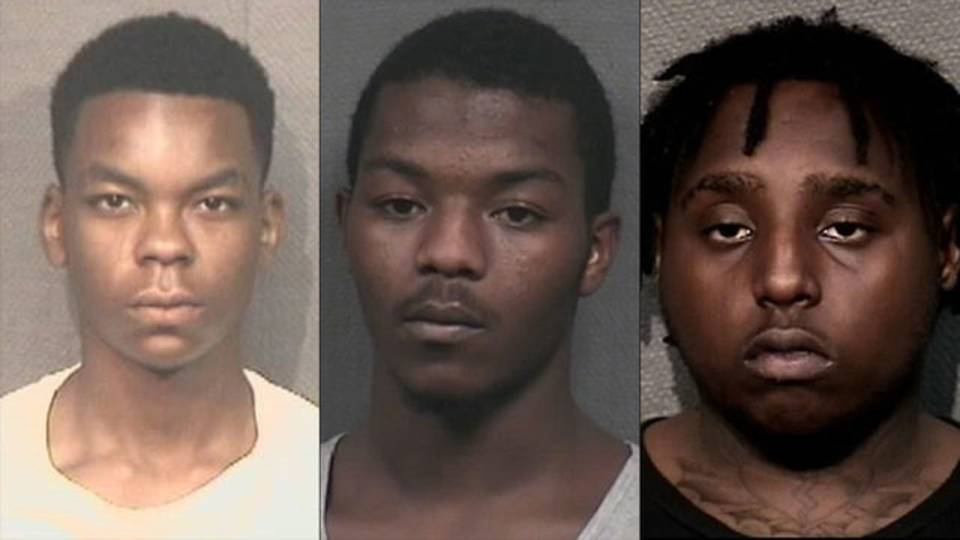 Albert Edmond Ray, Jashon Freeman and Jacorey Randolph mugshots 8-17-18