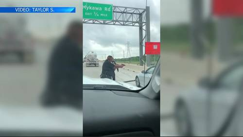Wild chase on Beltway 8 in rush-hour traffic caught on video
