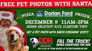Have your pet's photo taken with Santa, support Detroit Dog Rescue at&hellip&#x3b;