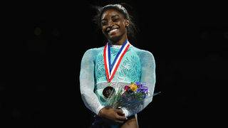 Simone Biles makes triumphant return
