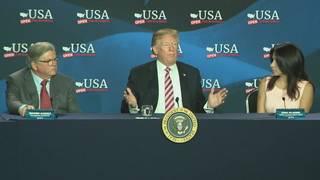 Trump promotes Republican tax law during Hialeah visit