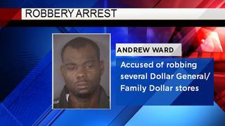 Man accused of robbing several dollar stores arrested