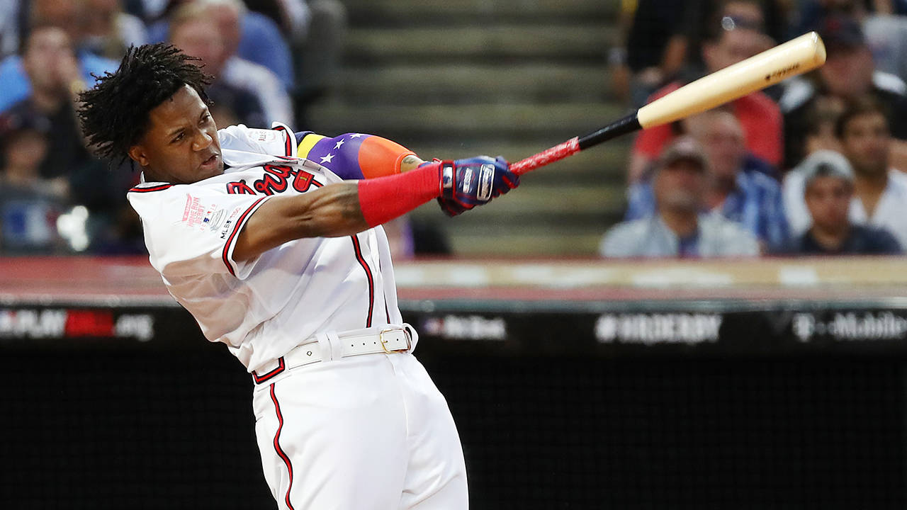 Ronald Acuna Jr. 2019 HR Derby getty