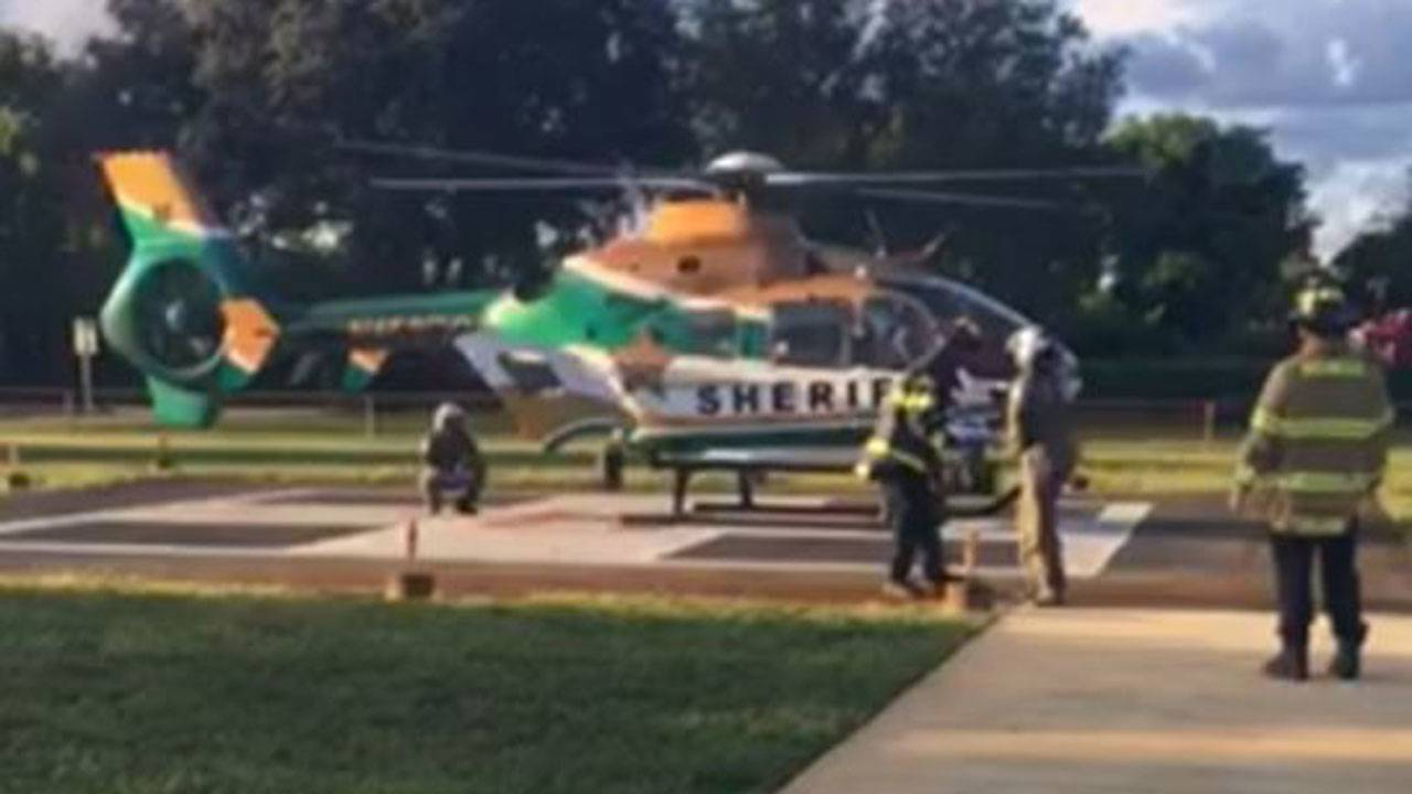 Boy airlifted after being bitten by dog