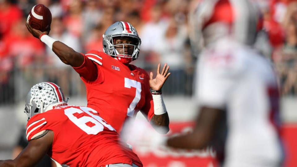 Dwayne Haskins Ohio State football vs Indiana 2018