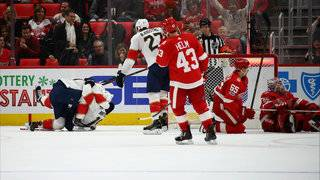 Panthers come back late, beat Red Wings in overtime, 2-1
