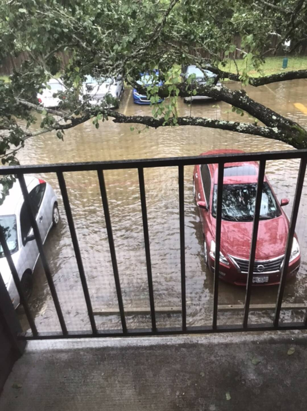 Apartment complex outside my window in texas city