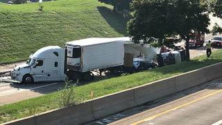 Southbound I-75 closed at I-96 after fatal multiple-vehicle collision