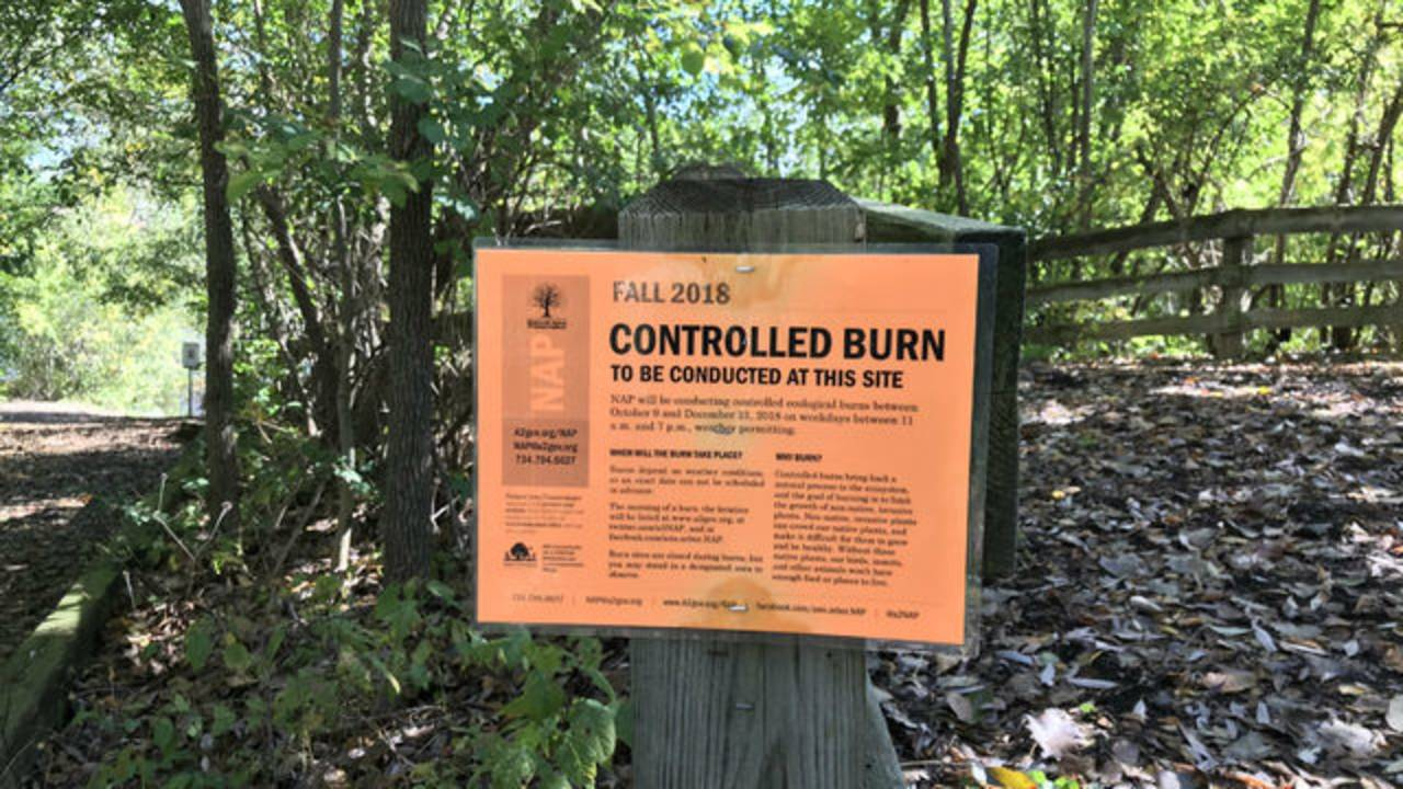 Controlled burn sign