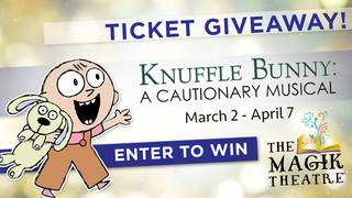 Win a Family 4-pack to see Knuffle Bunny: A Cautionary Musical!