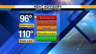 Heat advisories continue in NE FL, SE GA though this evening