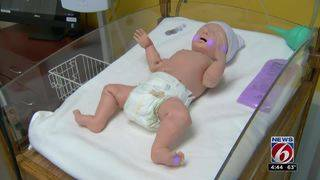 Simulator baby helps nurses fight flu