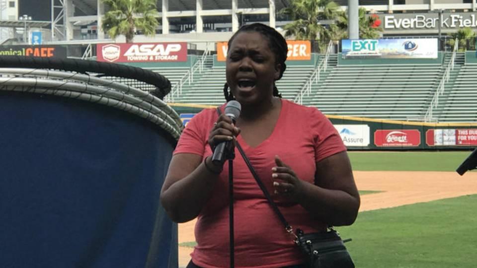 Jacksonville Jumbo Shrimp national anthem auditions 2