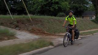 Riding for a cause: Man bikes from Virginia to Oregon to raise money for kids