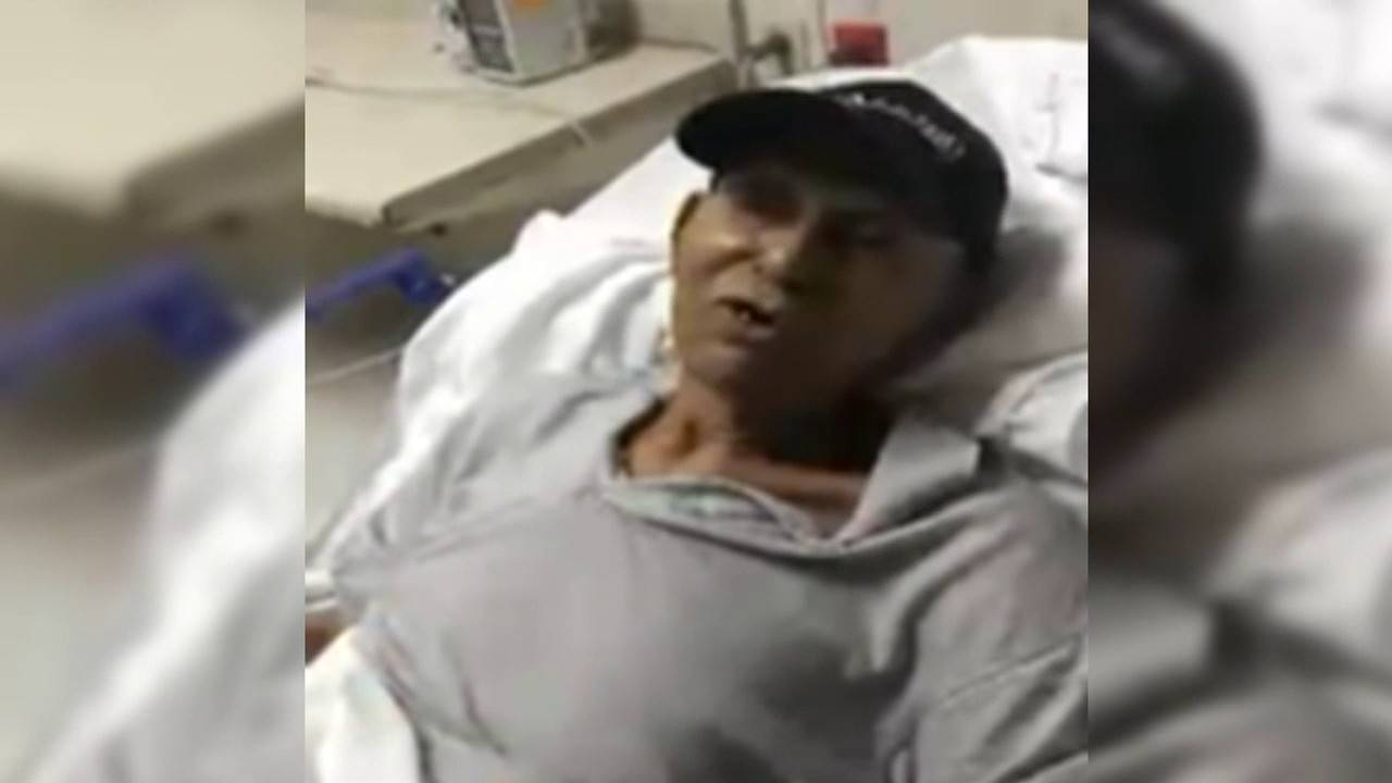 Rupert Fray in hospital bed
