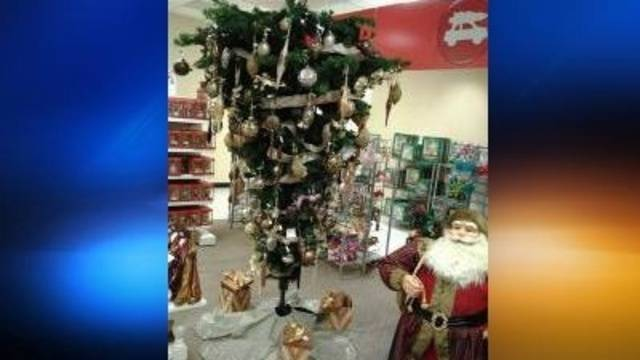 jcpenney selling upside down christmas trees - Jcpenney Christmas Decorations