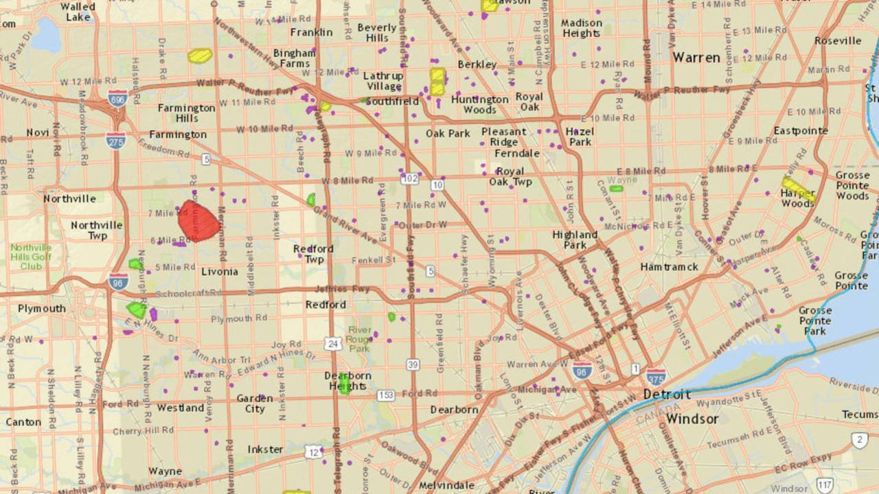 DTE Energy power outage map: Strong storms leave thousands... on