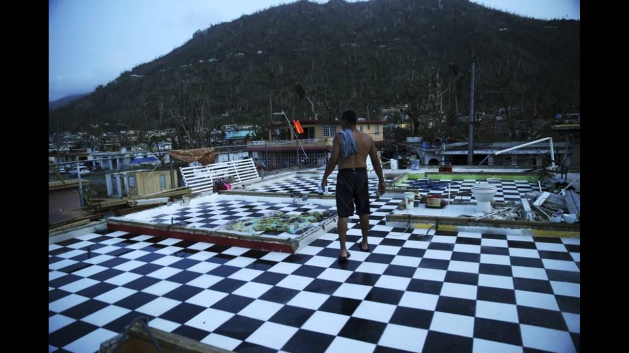 YABUCOA PUERTO RICO HOME DESTROYED HURRICANE MARIA