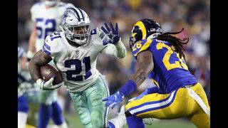 Elliott rushes for playoff career low in loss to Rams