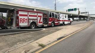 HFD ambulance breaks down on SW Freeway