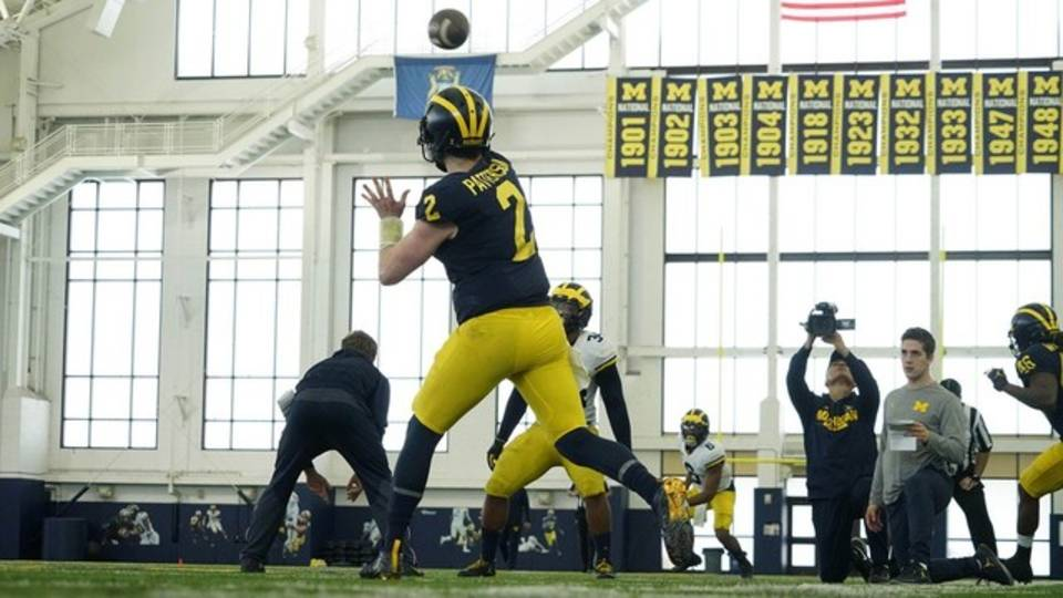 Shea Patterson Michigan football practice