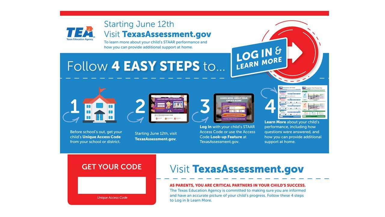 TEA STAAR test login for parents 6-12-19