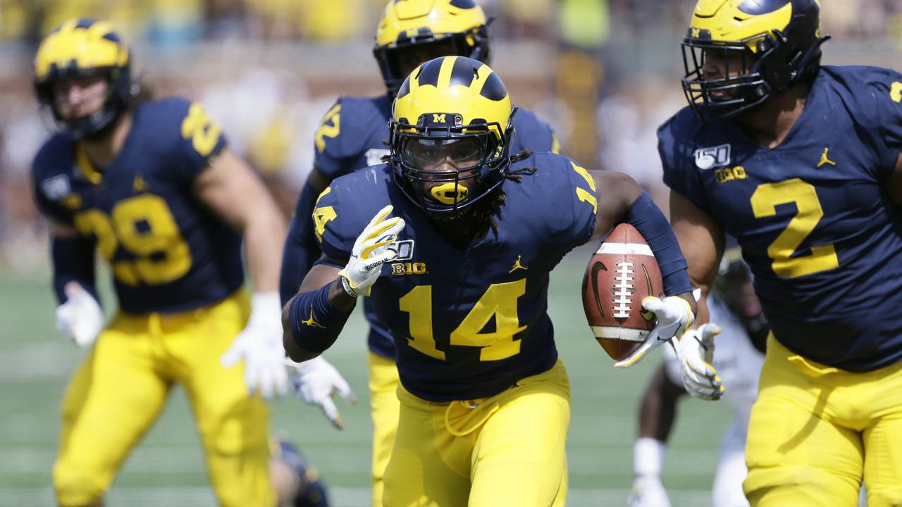 Josh Metellus fumble return Michigan football vs Army 2019