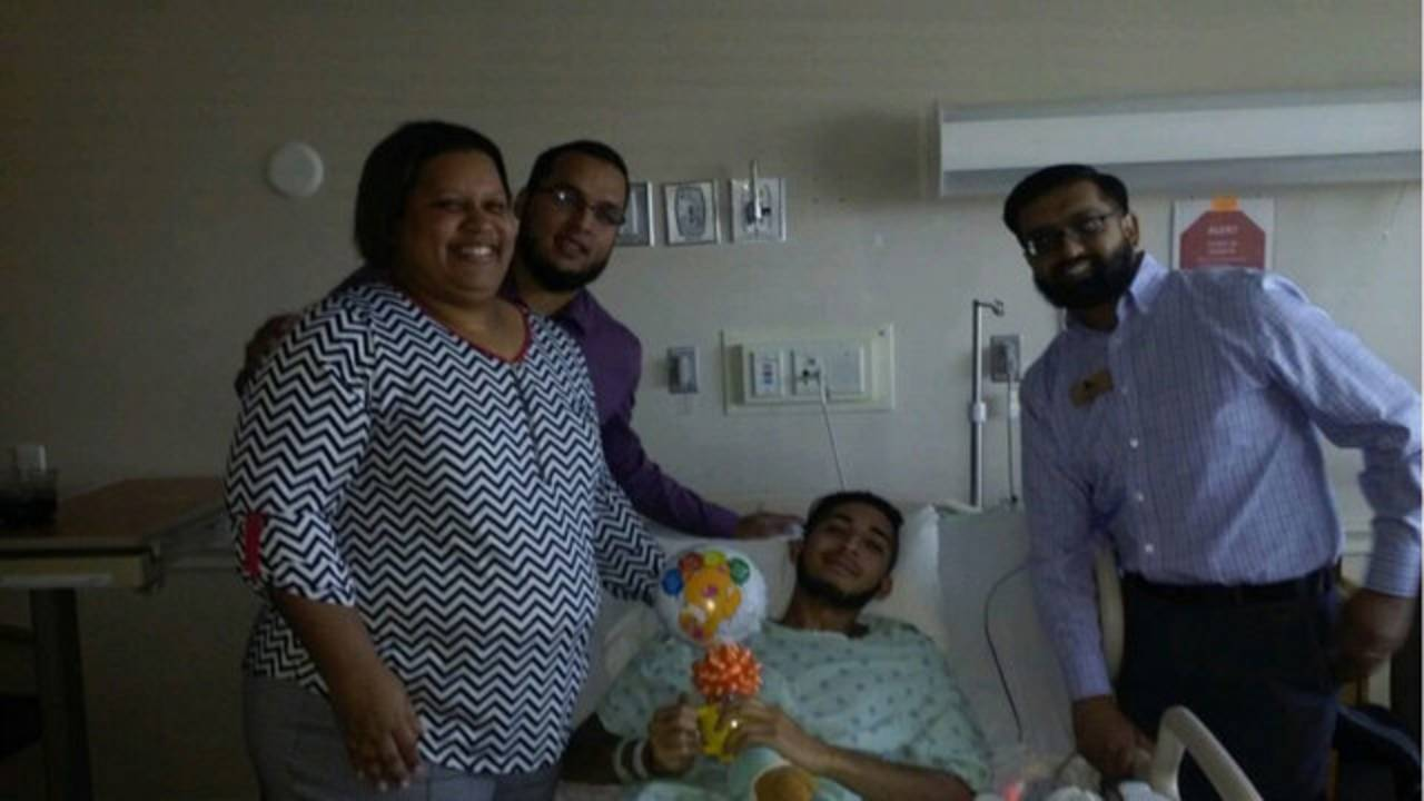 , Norman Casiano, Jr in hospital