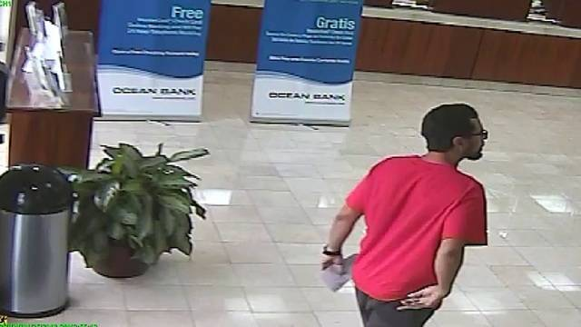 Bank robber entering Hialeah bank