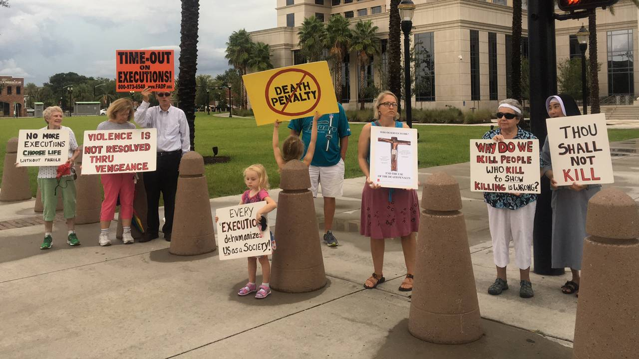 Anti-death penalty protest