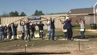 Day 4 of construction on Houston Habitat build in northeast Houston