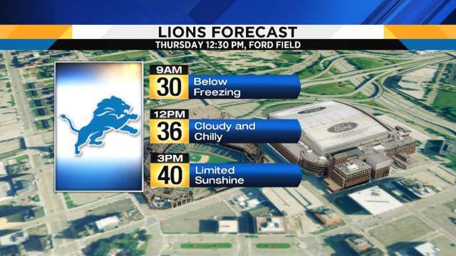 Lions Forecast graphic for Nov 21, 2017