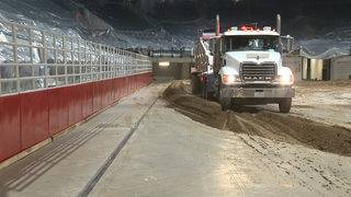 Truckloads of rodeo dirt delivered to AT&T Center arena ahead of SA…